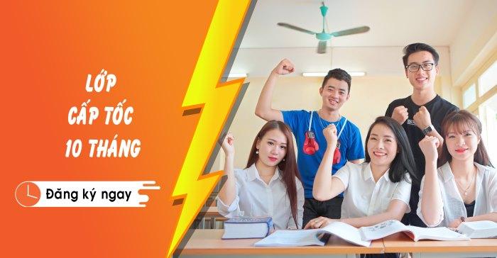 khóa cấp tốc 10 tháng trung cấp chính quy hạn cuối 31/12/2019 Giáo dục nghề