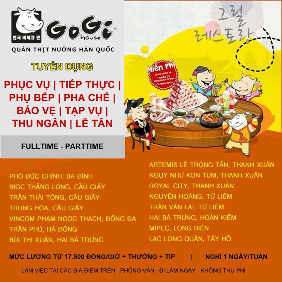 Gogi House tuyển dụng nhiều vị trí tại Hà Nội