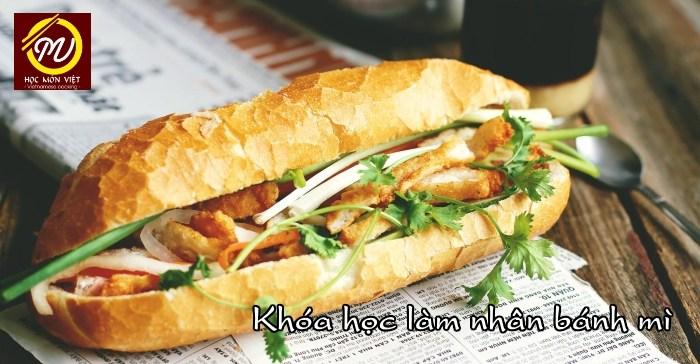 Khóa học làm nhân bánh mì tại Học Món Việt