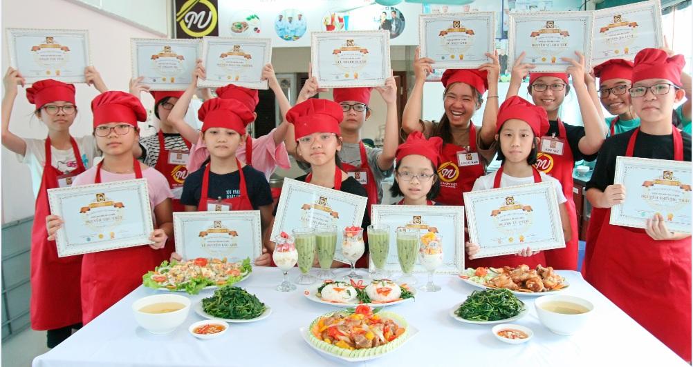 Trại hè Nấu ăn cho trẻ em – Món quà thiết thực cho con
