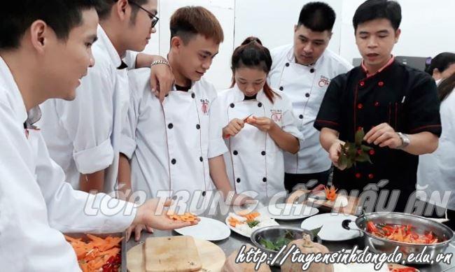 khóa học nấu ăn tại trung cấp đông đô học món việt giáo dục nghề
