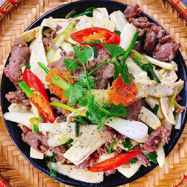 Củ niễng xào thịt bò cho bữa tối tháng 11 ngon lạ miệng