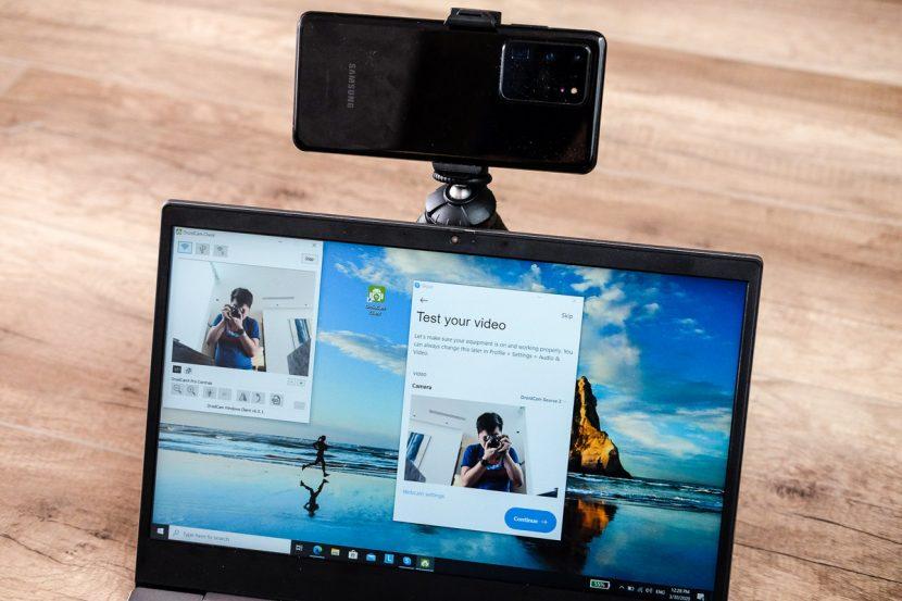 Phần mềm giúp sinh viên biến smartphone thành webcam